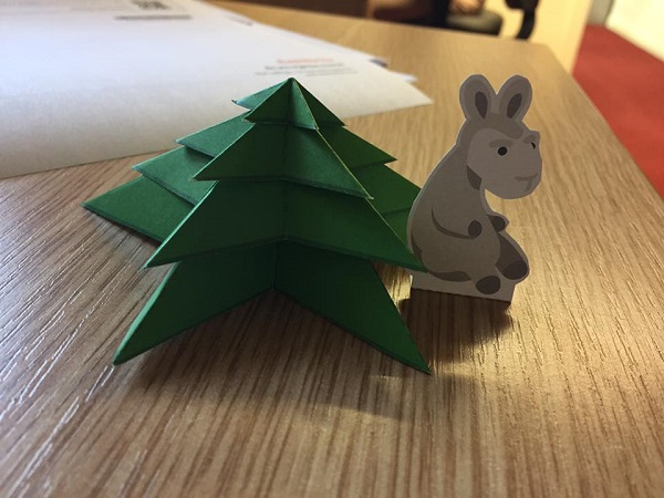 Origami Christmas Tree (Free Template)