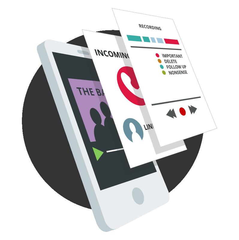 Sonocent Recorder App Illustration