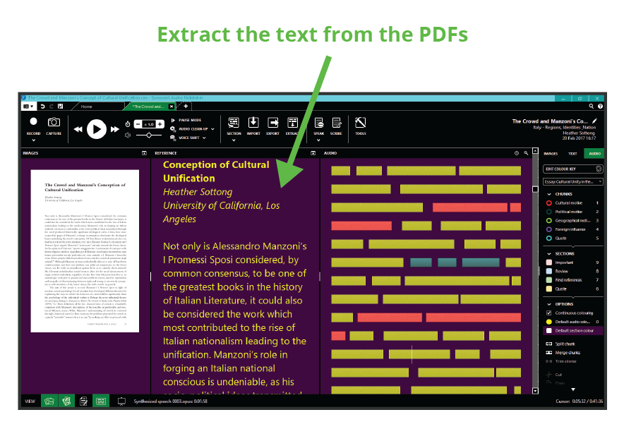 Extract the text from the PDFs