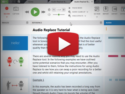 How to use the Audio Replace tool.